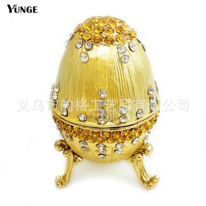 European Easter Egg Ring Box Enamel..