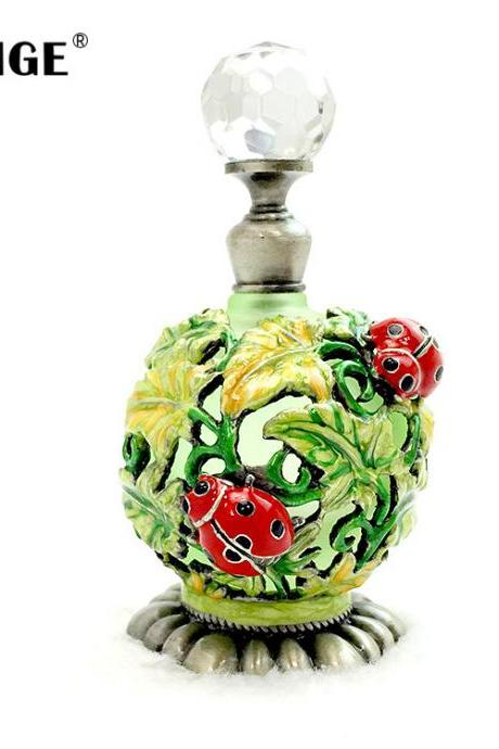 Freeshipping Handcrafts enamel perfume bottles girls birthday gifts
