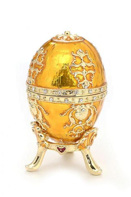 European Easter Egg Ring Box Enamel Painted Diamond Metal Crafts Gift Decoration Factory Direct