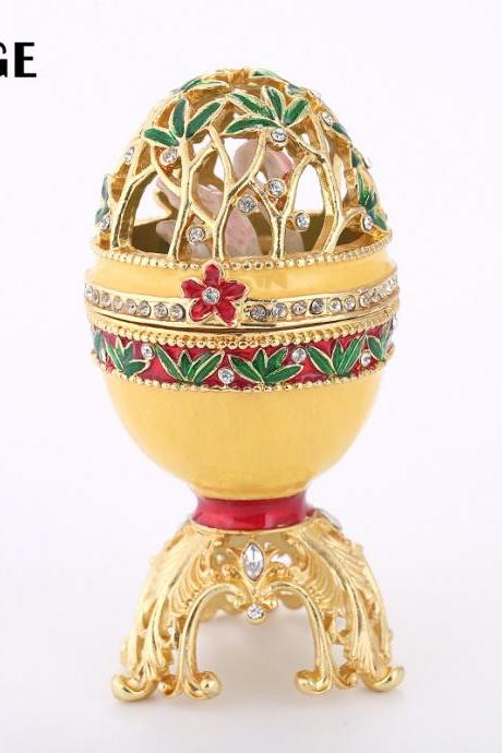 Easter egg creative high-end home decoration enamel painted diamond metal crafts gift factory direct sales