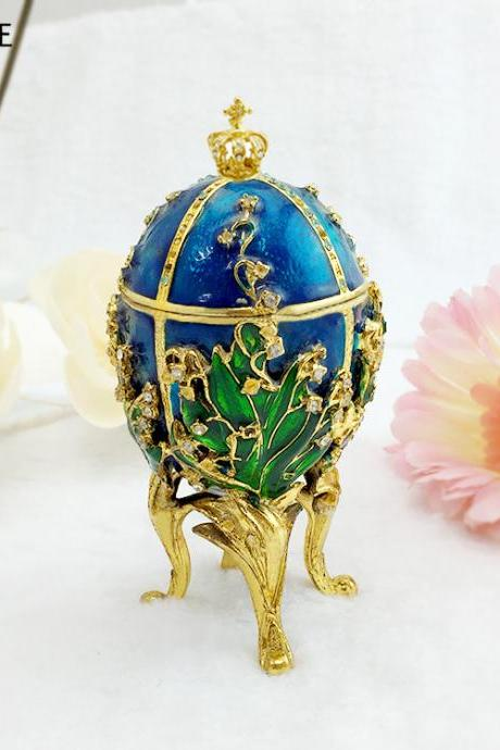 Easter egg painting electroplated diamond metal crafts gift office home decoration cross-border supply source boutique