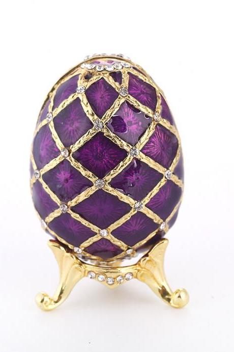Cross-border exclusively for creative metal Easter eggs, gold-plated diamond painting oil ornaments, metal crafts factory direct sales