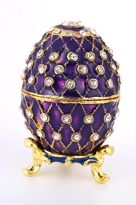 2018 New Amazon Supply Easter Egg Jewelry Box Export Enamel Jewelry Box