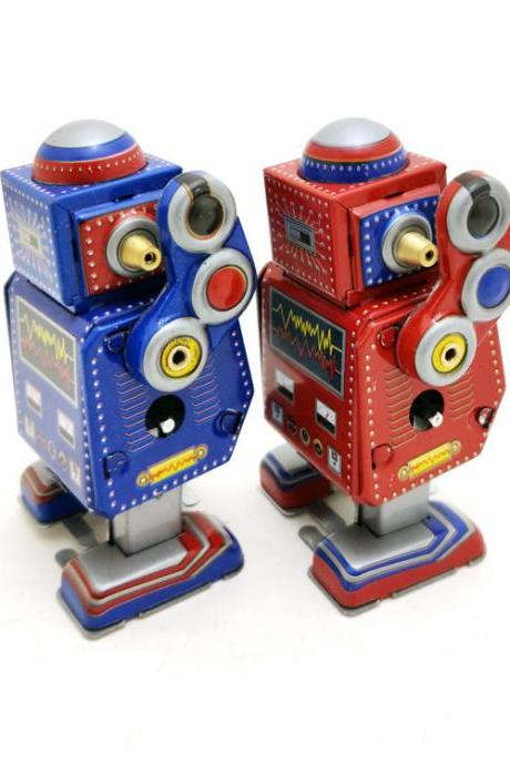 MS524 Mini Tin Robot Robot Crafts Decoration Clockwork Winding Toy Wholesale