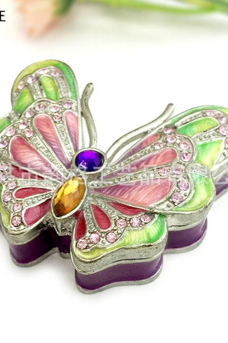 Southeast Asian style creative crafts home jewelry box decoration butterfly jewelry box to send girlfriend a gift