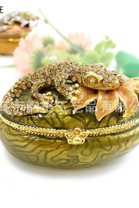 Southeast Asian style creative gifts practical painting oil diamond metal jewelry box animal jewelry box factory direct sales