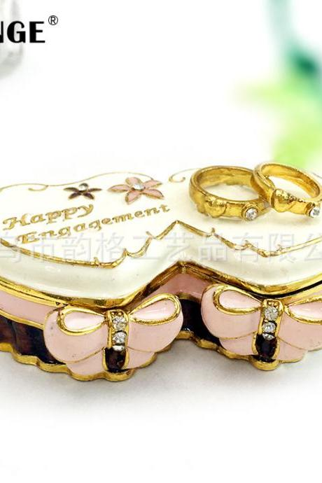 Korean Valentine's Day gift couple creative gift girl jewelry box ring gift box wedding crafts ornaments