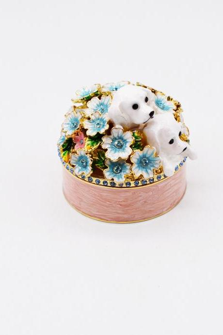 Foreign trade boutique Japan Piearth cherry blossom dog ring storage box enamel craft gift decoration box wholesale