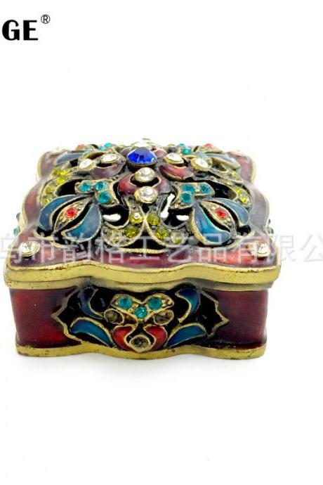 Factory Outlet Modern Creative Crafts Retro Pattern Decoration Home Decoration Jewelry Box Birthday Gift Decoration