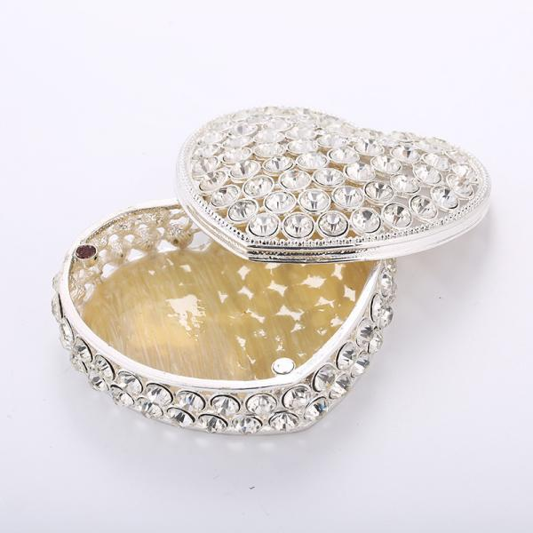 Event gifts Give customers practical creative gifts 925 silver plated diamond metal crafts jewelry box direct sales