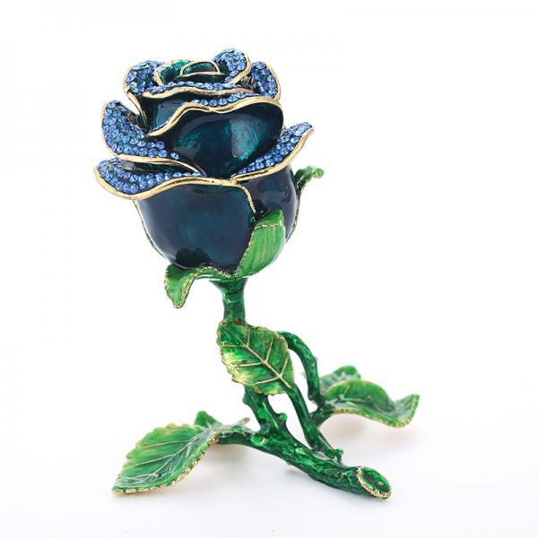 Metal rose jewelry box decoration creative home decoration drip oil metal crafts gift factory spot